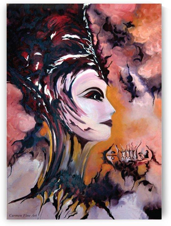 Act with Modern Elegance - Nefertiti by Carmen Fine Art