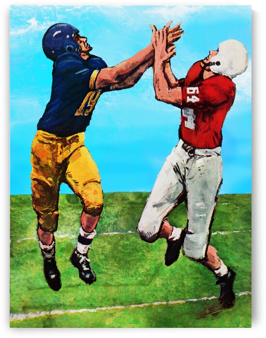 1964 Football Program Cover Art Remix by Row One Brand