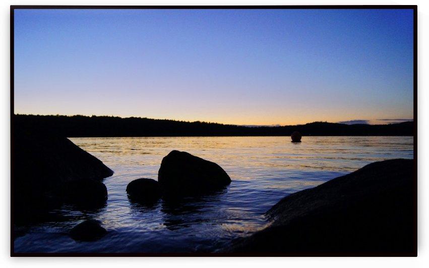 Maine Lake sunset by Sue Bonior