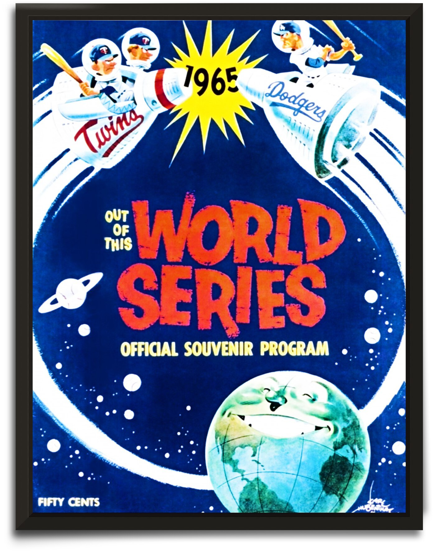 1965 World Series Program Cover Art by Row One Brand