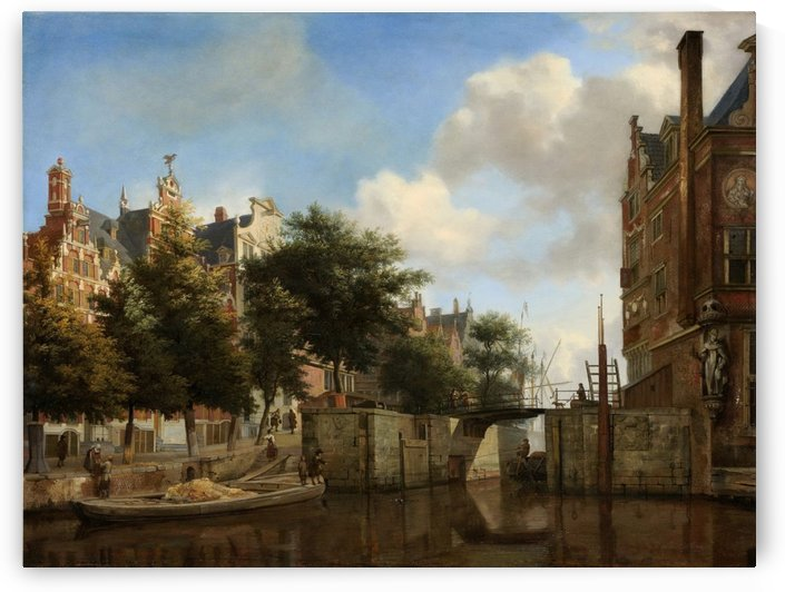 City Landscape by Abraham van Cuylenborch