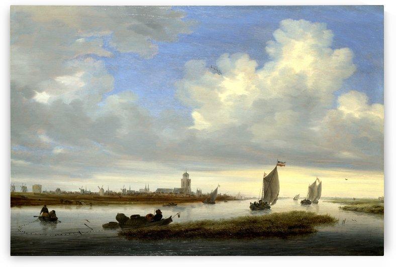Deventer by Salomon van Ruysdael