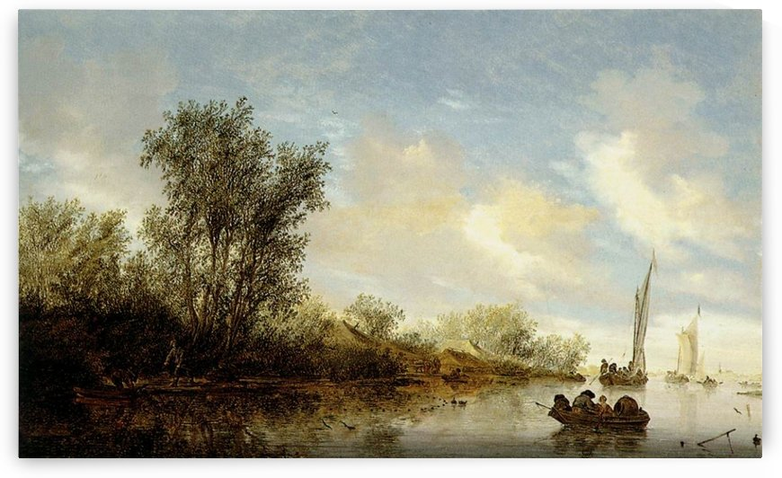 River with Fishermen by Salomon van Ruysdael