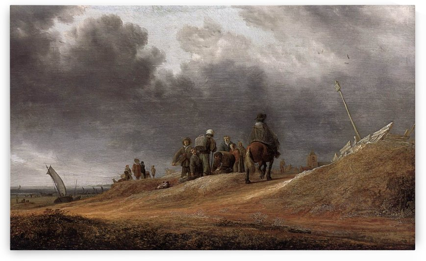 People working by Salomon van Ruysdael