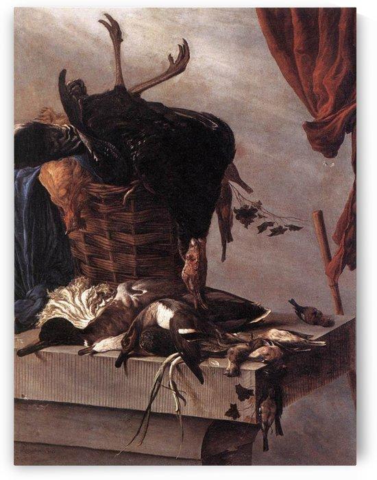 Still-Life with a Turkey by Salomon van Ruysdael
