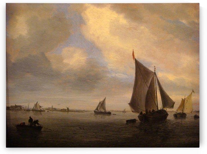 Meergezicht Met Zeilschepen by Salomon van Ruysdael
