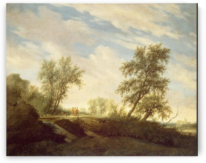 Landscape with Christ on the Road to Emmaus by Salomon van Ruysdael