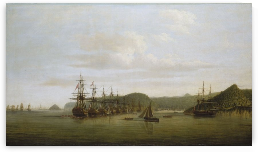 Barringtons action at St Lucia 1778 by Dominic Serres