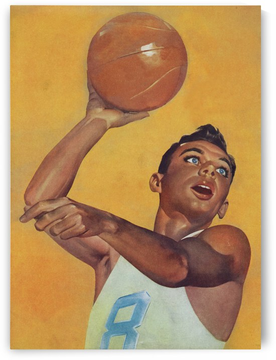 1956 Basketball Player Art by Row One Brand