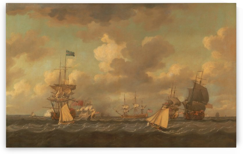 English Ships Coming to Anchor in a Fresh Breeze by Dominic Serres