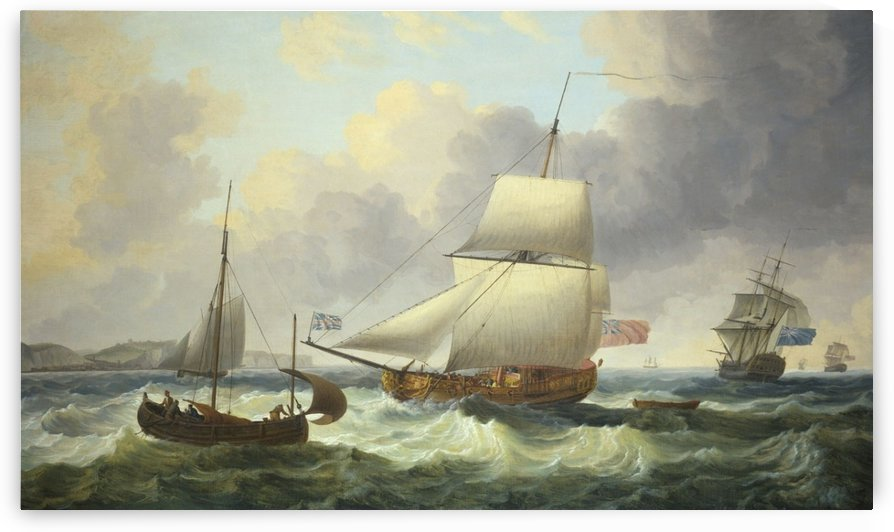 A Ketch-Rigged Royal Yacht Close-Hauled on the Starboard Tack off Dover by Dominic Serres