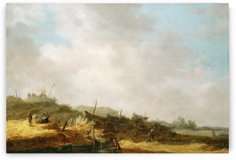 Dune landscape by Jan van Goyen