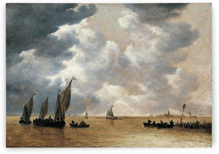 An Estuary Scene by Jan van Goyen