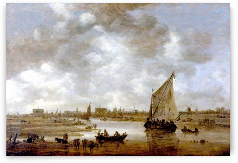 View of Leiden from the Northeast by Jan van Goyen