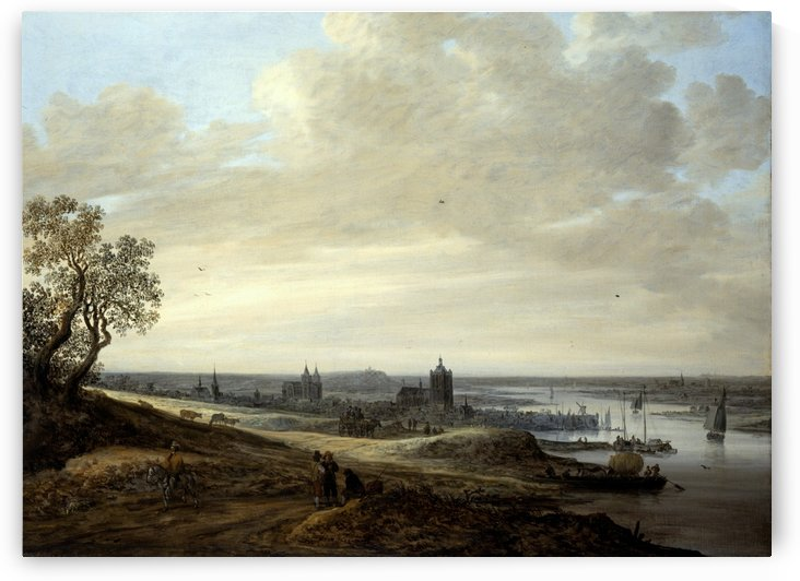 Panorama Landscape with a View of Arnhem by Jan van Goyen