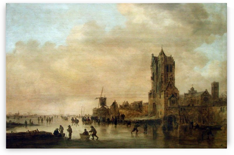 Cathedral by the River by Jan van Goyen