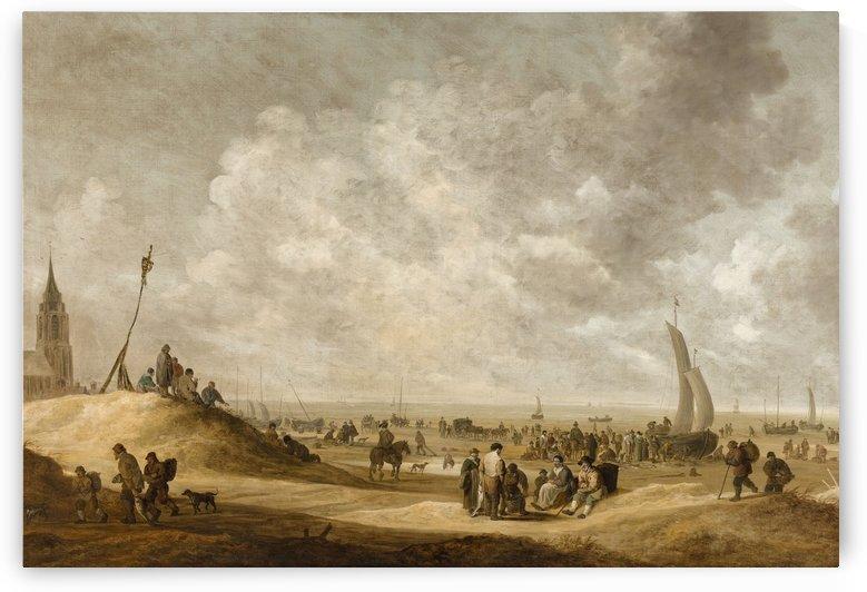On the Beach at Scheveningen by Jan van Goyen