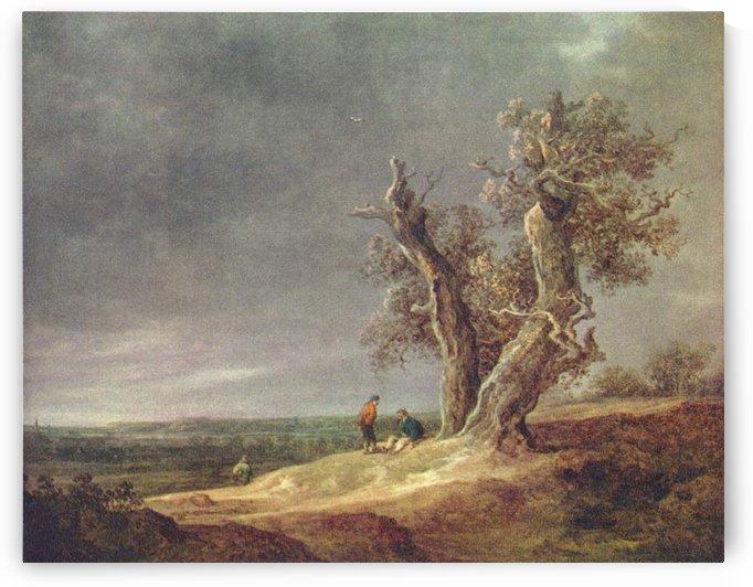 People by the tree by Jan van Goyen