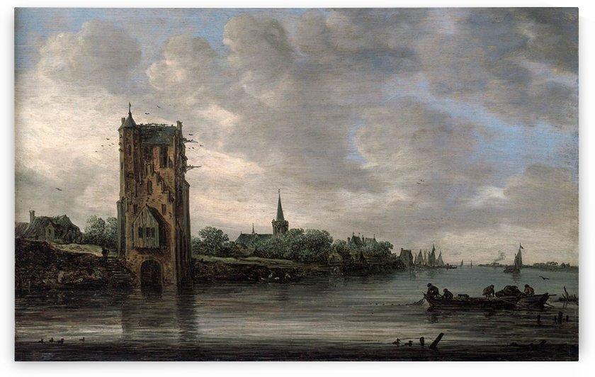 The Pelkus Gate near Utrecht by Jan van Goyen
