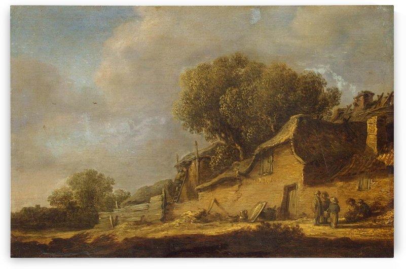 Landscape with a Peasant Cottage by Jan van Goyen