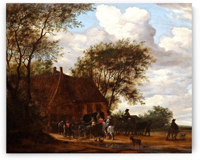 A Wooded Landscape by Jan van Goyen