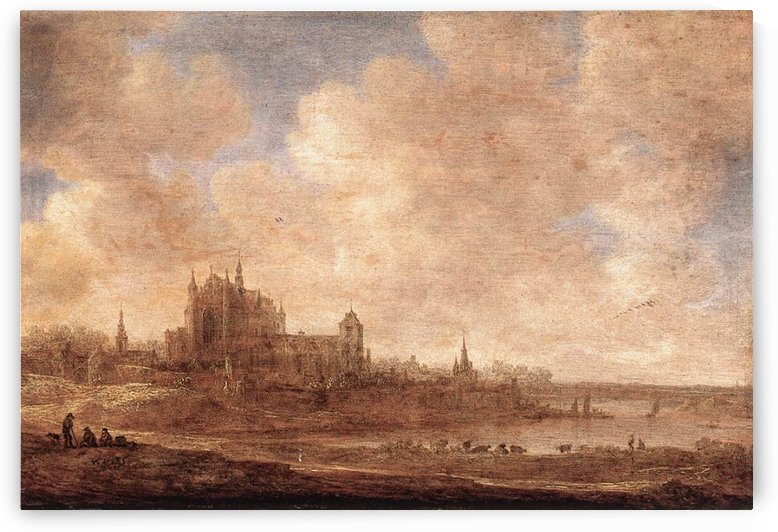 View of Leiden by Jan van Goyen