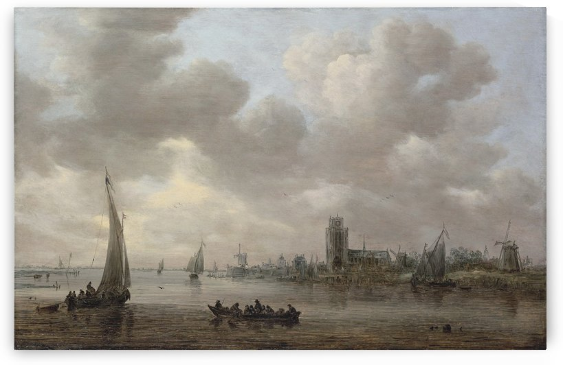 A view of the Maas with Dordrech by Jan van Goyen