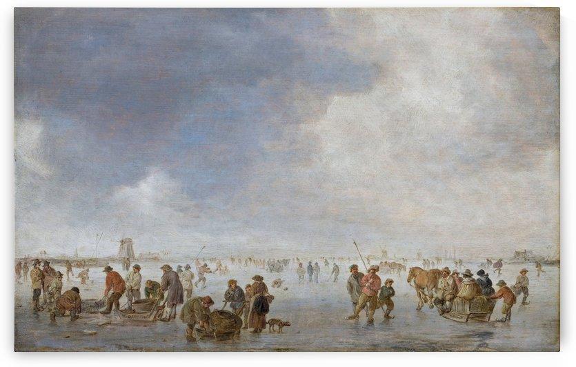 Winter Scene on the Ice by Jan van Goyen