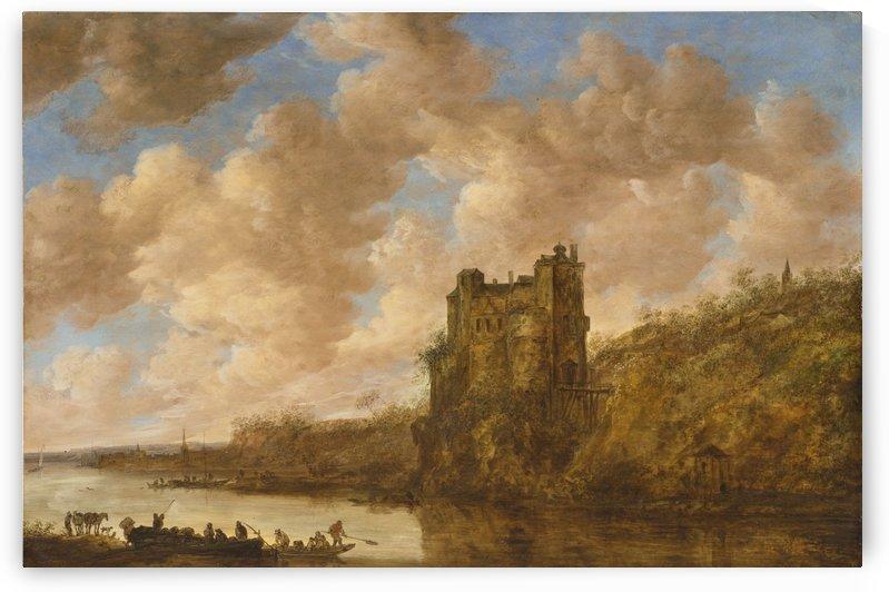 Mighty Castle on a Rock by Jan van Goyen