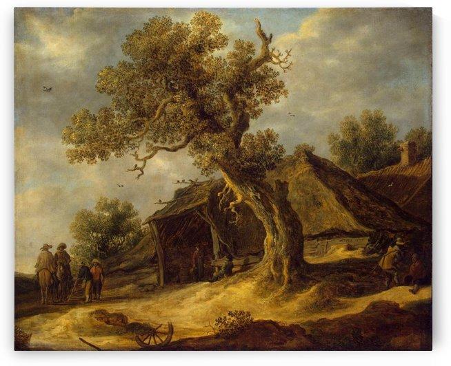 Landscape with Oak by Jan van Goyen