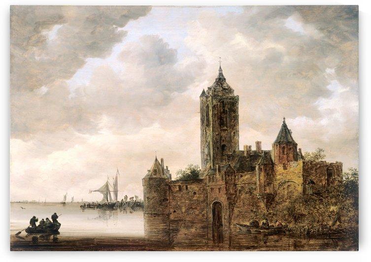 Un Chateau au bord de l'eau by Jan van Goyen