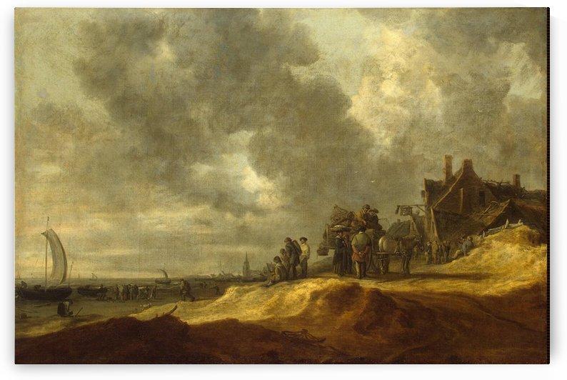 Shore at Scheveningen by Jan van Goyen