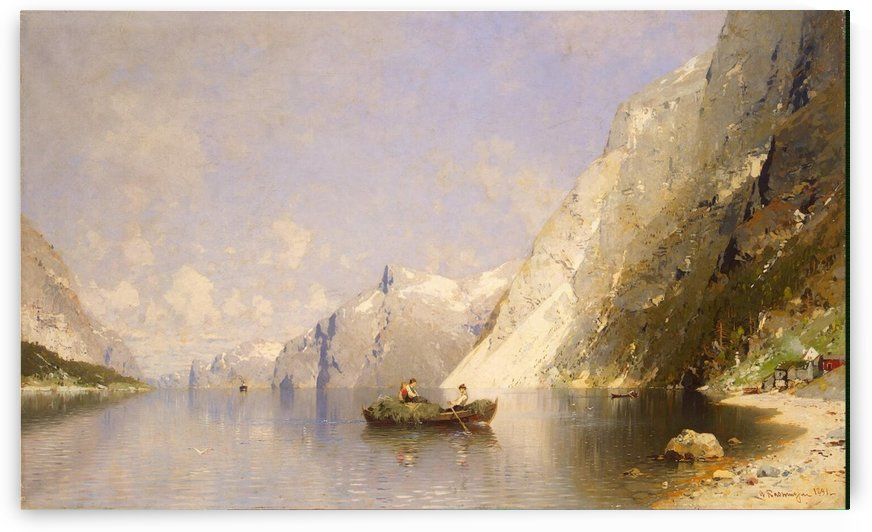 Fiord in Norway by Georg Anton Rasmussen