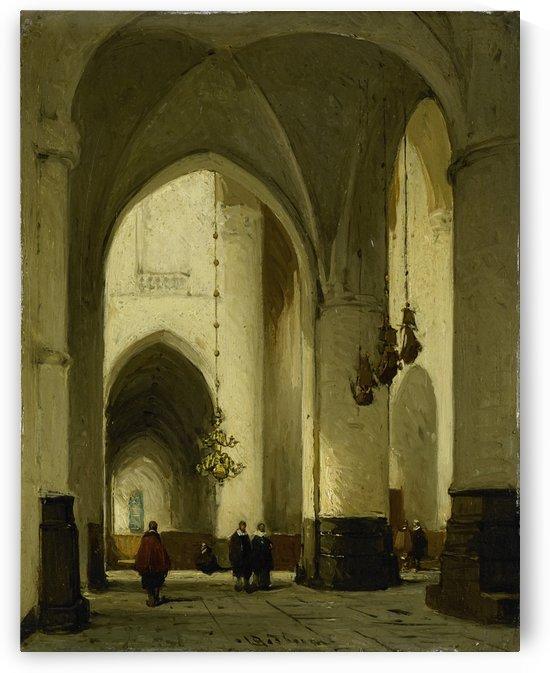 Interieur van de Grote of Sint Bavokerk te Haarlem by Johannes Bosboom