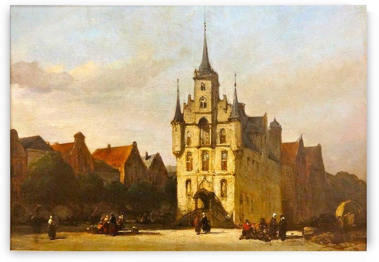 Gouda stadhuis by Johannes Bosboom