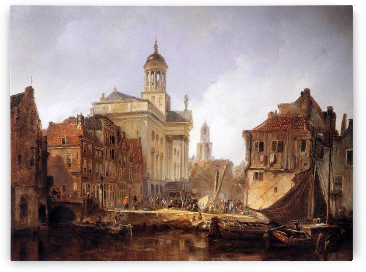 View On Utrecht Sun by Johannes Bosboom