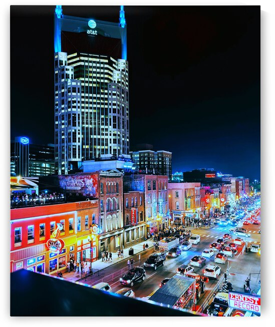 Music City at Night by JulesSnow