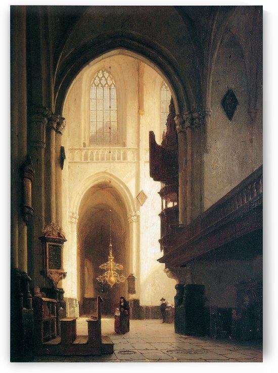 Hooglandse Kerk Leiden Sun by Johannes Bosboom
