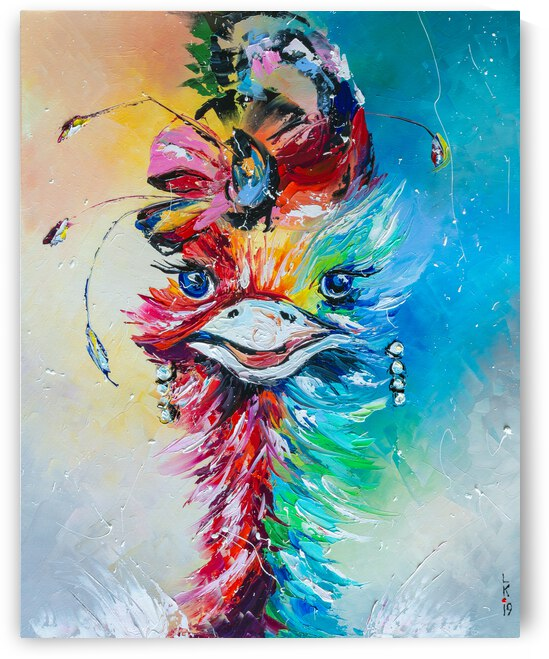 Fashionable ostrich by Liubov Kuptsova