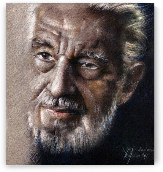 Sergiu Nicolaescu portrait drawing  by Daliana Pacuraru