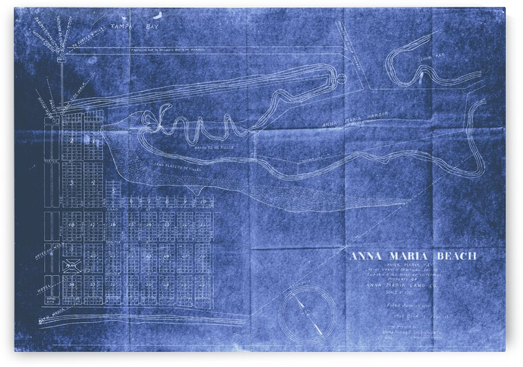 Historic Anna Maria Beach Map by Anthony Garcia