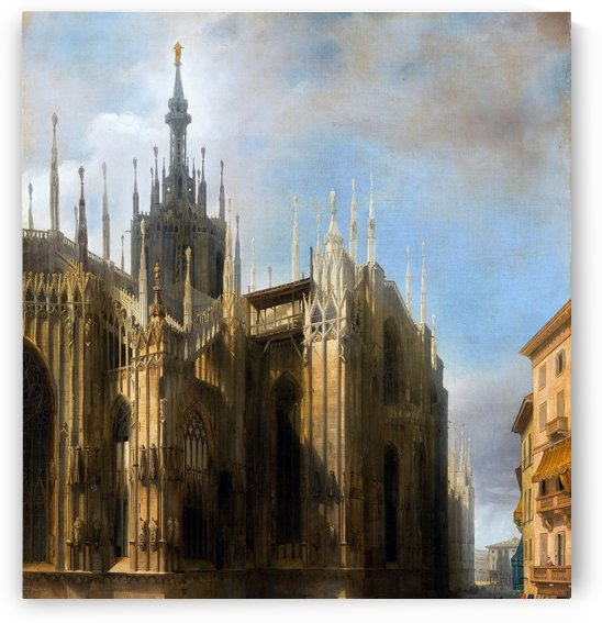 Il Duomo dalla corsia dei Servi by Luigi Bisi