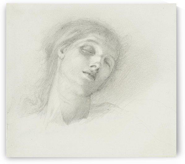 Study of a Female Head by Sir Edward Coley Burne-Jones
