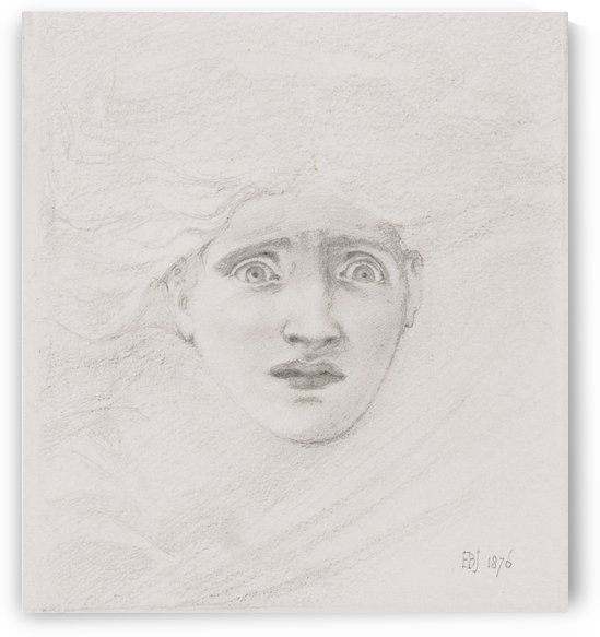 Study of Medusa for The Death of Medusa painting by Sir Edward Coley Burne-Jones