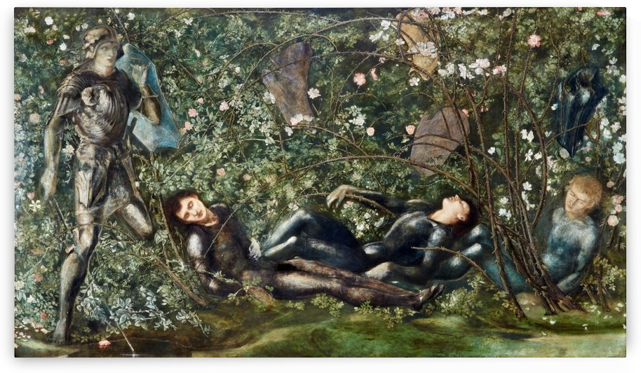 The Knights and the Briar Rose by Sir Edward Coley Burne-Jones