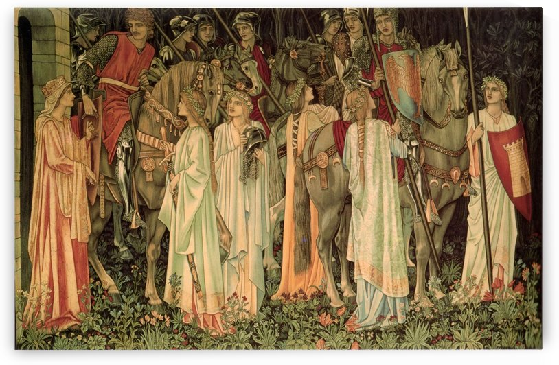 The Arming and Departure of the Knights of the Round Table and the Quest for the Holy Grail by Sir Edward Coley Burne-Jones