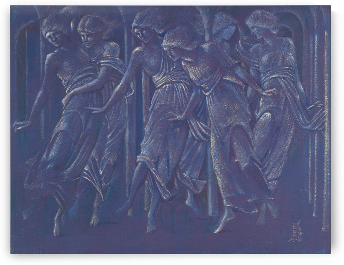Dancing girls by Sir Edward Coley Burne-Jones