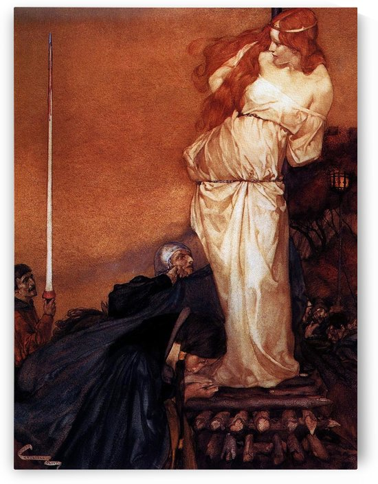 Guinevere rescued by Lancelot by Sir Edward Coley Burne-Jones