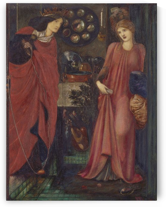 Fair Rosamund and Queen Eleanor by Sir Edward Coley Burne-Jones