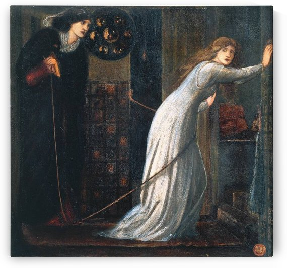 Fair Rosamund and Queen Eleanor 1862 by Sir Edward Coley Burne-Jones